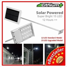 12/15pcs 64X Solar LED Light Outdoor Wall Signage Street Lamp Auto ON