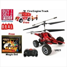 CNY Buy 1 Free 2 - U821 Remote Control Plane Helicopter Missile Toy