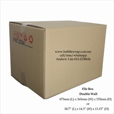 File Box Size Carton Double Wall 5pcs