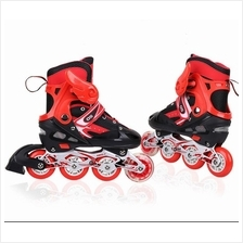 Adjustable Inline Skate/ Roller Skate Blade With Front Flash Wheels