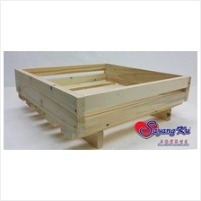 PINE WOOD DULANG TRAY 1605 BOX 30CM x 30CM x 11CM