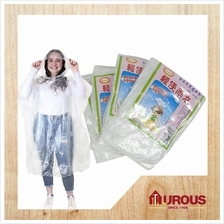 One Time Use Disposable Raincoat Rainwear Rainsuit (Mix Colour)