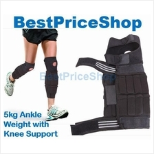 5kg Adjustable & Invisible Ankle Weight with Knee Guard Jogging Hiking