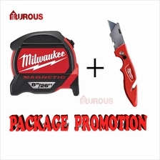 Milwaukee Measuring Tape 8Meter and FastBack Flip Utility Knife 482272