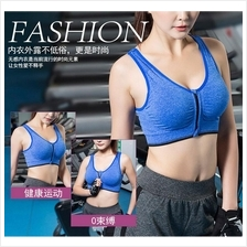 SB10 Sport Gym Yoga Fitness Zipper Running Bra