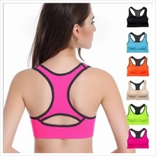 SB 8 Candy Colors Racerback Sports Yoga Bra