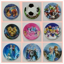 Cartoon Sports Theme Party Plates for 10
