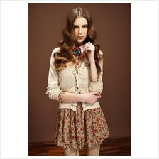European Style Ladies Fashion Floral Lace Cardigan