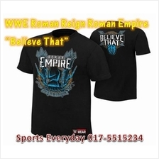 WWE WWF T Shirt Roman Reign Empire Believe That Baju WRESTLING GUSTI