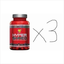 3 UNITS BSN Hyper Shred Super Fat Burner 90 Caps (BAKAR LEMAK+Energy+D
