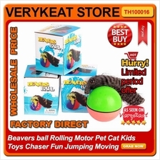 Beavers ball Rolling Motor Pet Cat Kids Toys Chaser Fun Jumping Moving