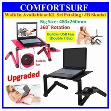 PROMO 360° Multi-Angle Adjustable & Portable Laptop Table + BIG Fan