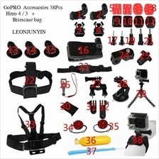 GoPro Go Pro Hero 4 3 38 Pcs Full set Accessories With Briefcase Bag