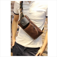 Men PU Leather Casual Sling Shoulder Chest Cross Body Bag