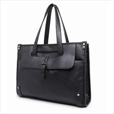 Men PU Leather Messenger Sling Bag