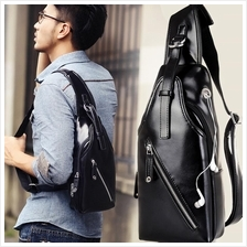 Men PU Leather Sling Shoulder Bag