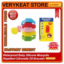 Waterproof Baby Silicone Mosquito Repellent Citronella Oil Bracelet