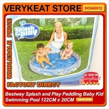 Bestway Splash and Play Paddling Baby Kid Swimming Pool 122CM x 20CM