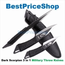 Dark Scorpion 3 in 1 Military Tactical Camping Survival Throw Knife
