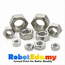 Stainless Steel Hex Nut Screw Bolt-  M2 M3 M4 M5 M6 M8 M10 (1 unit)