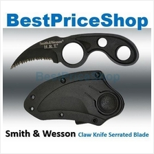 New Smith & Wesson HRT Bear Claw Serrated Blade Hunting Camping Knife
