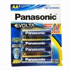 Panasonic Evolta Alkaline Battery LR6EG/4B1F AA x 4pcs packing