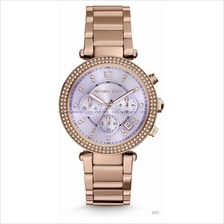 MICHAEL KORS MK6169 Parker Chronograph Glitz Bracelet Lilac Rose Gold