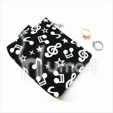 Music Notes Zipper Coin Purse