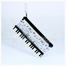 Transparent Music Notes Pencil / Cosmetic Bag