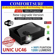 ORI UNIC UC46 Mini LED HD Projector +WIFI Display Miracast EZcast UC40