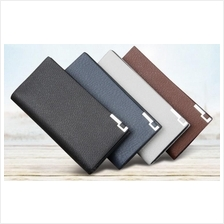 Men PU Faux Leather Long Wallet