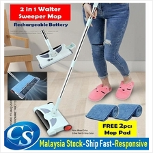 Rechargeable 2-in-1 Cordless Electric Sweeper & Mop Broom Auto Cleaner