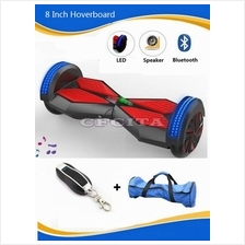 8 Inch 2 Wheels Electric Scooter Hoverboard Skateboard Bluetooth Light
