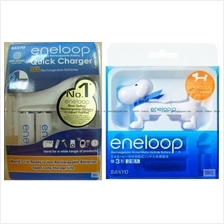 Sanyo eneloop - Eneloopy Battery Checker w/4AA&1 charger(Snoopy)*Japan
