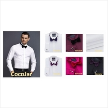 Men Premium Wing Collar Slim Fit White Long Sleeve Working Shirt