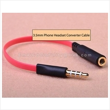 3.5mm Phone Headset Earphone CTIA OMTP Audio Adapter Converter Cable