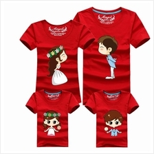 Family T Shirt Set Father + Mother (Wedding Married Couple / Kids Boy)