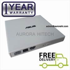 Asus USB Portable Slim External CD DVD Rom Burner Writer DVD Drive Wht