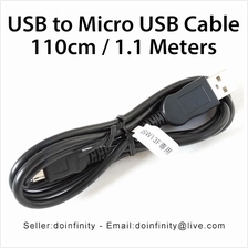 Fujitsu USB 2.0 A Male to Micro USB Male 26/22AWG Cable 1.1 Meters New