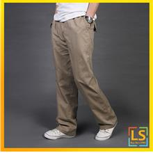 Plus Size for Men Straight Cut Leisure Loose Long Trouser Pants)