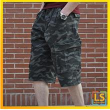Plus Size for Men Knee Length Straight Cut Smart Casual Short Pants)