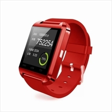 Evatronic U8 UWatch Bluetooth Android Touch Screen Smart Watch - Red