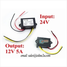 24V to 12V 5A stepdown step down converter Buck Memory ACC Remote Power Lorry