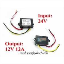 24V to 12V 12A stepdown step down converter Buck ACC Remote Power Lorry Truck