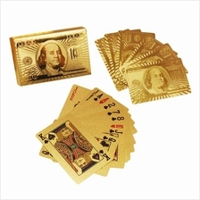 24k Gold Foil Water Proof Playing Poker Card Cards Game ~ Ready Stock