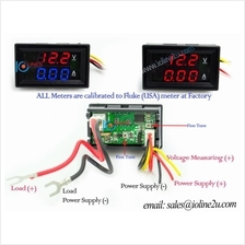 0 ~50V DC Dual Display Voltmeter+Current meter 10A ammeter Red/Blue C.2
