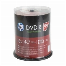 HP DVD-R 100pcs Media Disc 16x 4.7GB 120min Cake Box Spindle