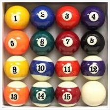 Pool Ball STANDARD SIZE (Bola Pool ) High Quality IMPORT