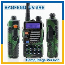 Baofeng UV-5RE Camouflage Green 128CH Dual Band UV5RE Walkie Talkie