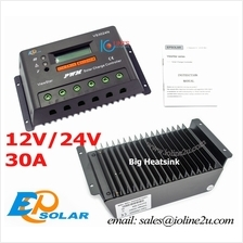 EP Solar ViewStar 30A 12V 24V LCD Solar Charge Controller Charger Volt/Amp Dis